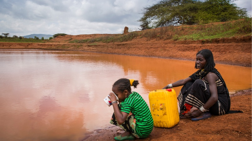 The global water crisis affects women and children.