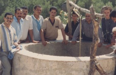William Ashley with a well in Morocco