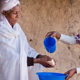 Handwashing is an important part of improving sanitation in Ethiopia.
