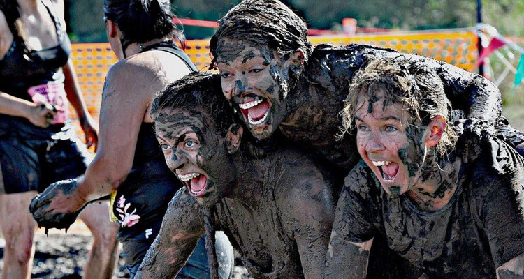 A clean water fundraiser sometimes means getting a little muddy.