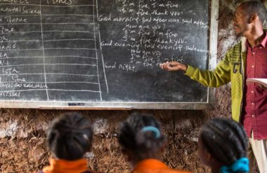 Education reduces poverty at this classroom in Ethiopia