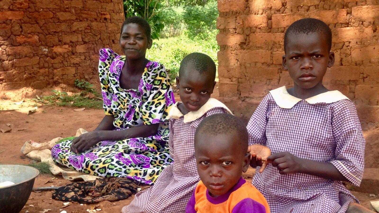 rachel kisakye and children overcoming water poverty in uganda