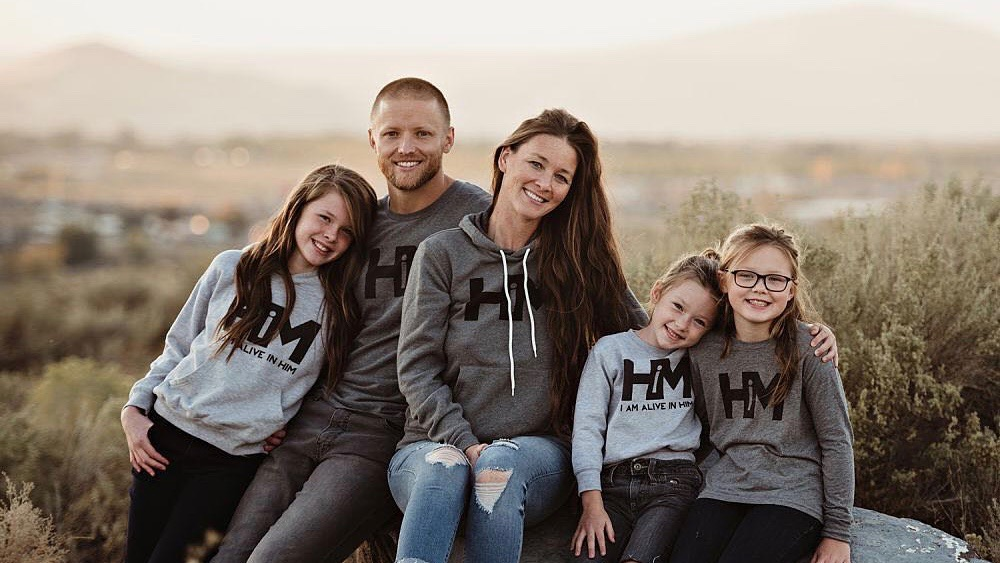 hope outfitters founder ryan welch with his family